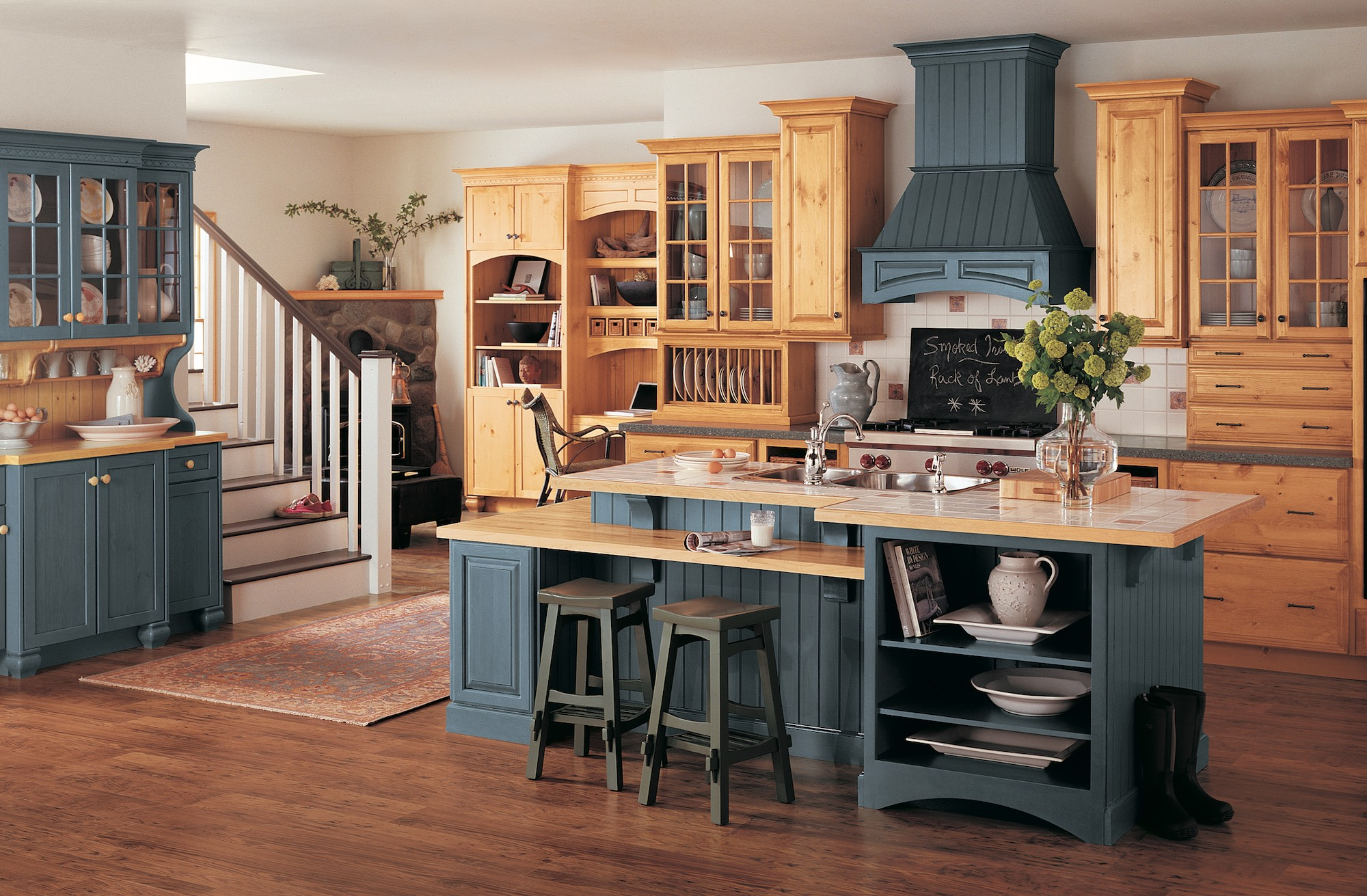 Country Casual Pine Kitchen Design Ideas Infinity Construction Group